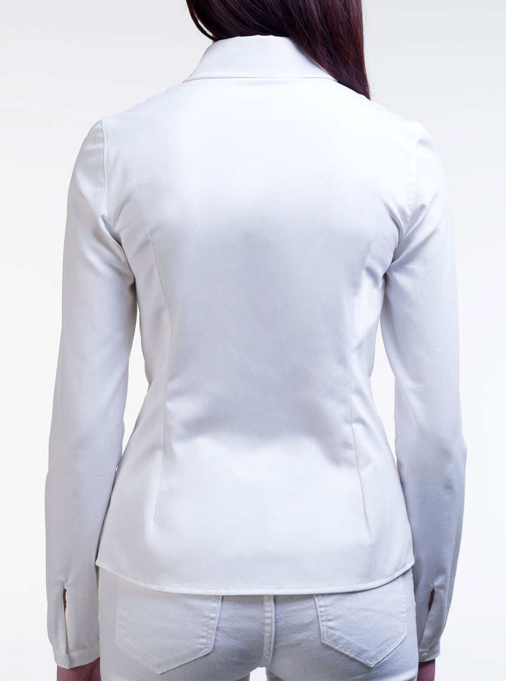 White Organic Cotton Fitted Shirt LAURA