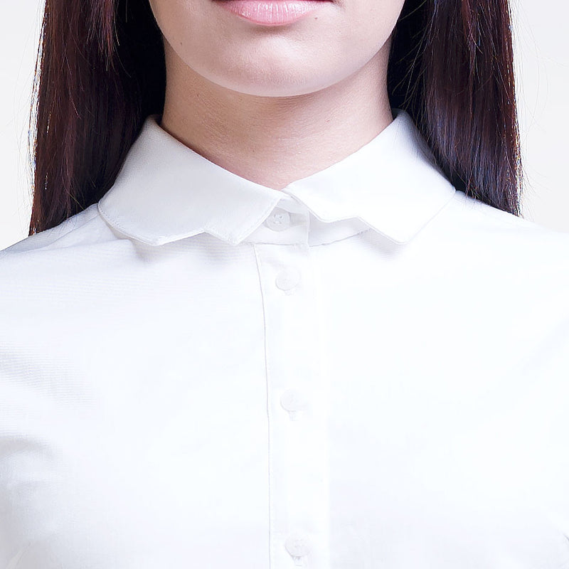 White Organic Cotton Straight Shirt LIISA