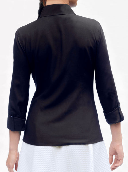 KiRiVOO ODER Bamboo Shirt with Ajustable Sleeves (Black)