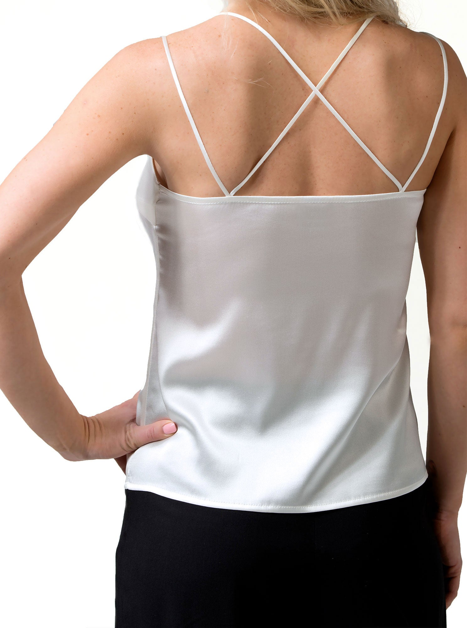 PIRET Organic Silk White Cami Top