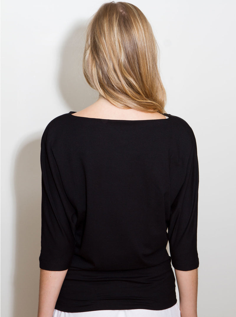Black Bamboo Blouse TAEVI