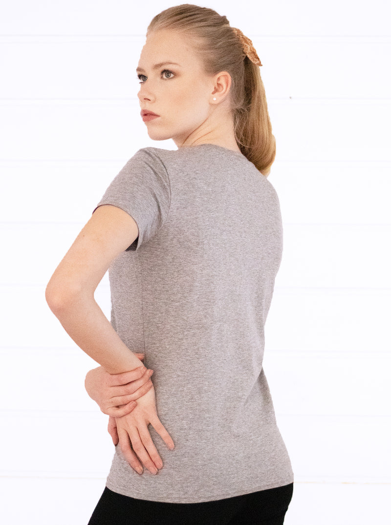 Grey Organic Blend T-shirt BASIC