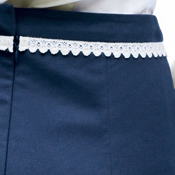 KiRiVOO MAIS Blue Organic Cotton Pencil Skirt