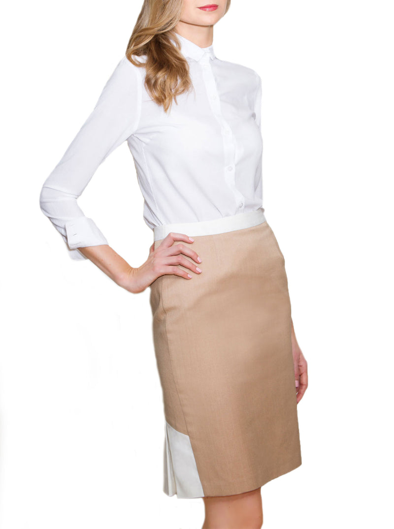 Beige Organic Cotton Skirt SIREL