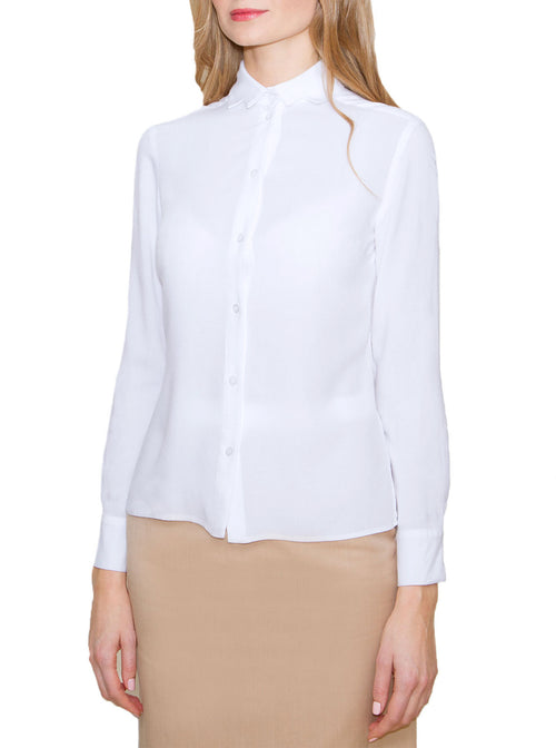 Liisa White Bamboo Straight Shirt