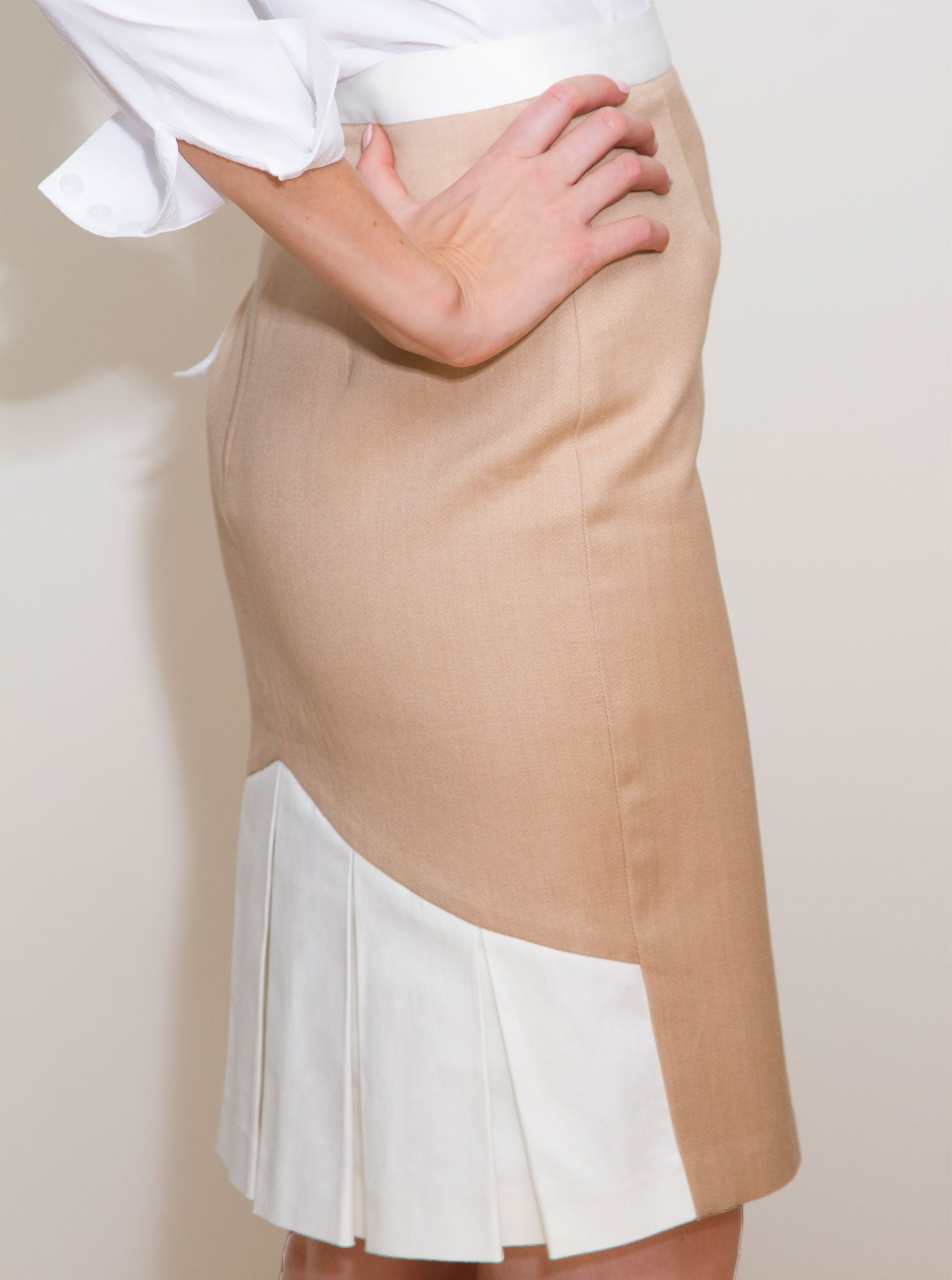 SIREL Beige Organic Cotton Skirt