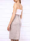 Melange Grey Organic Cotton+Hemp Pencil Skirt VAIKE