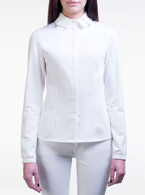 LAURA White Organic Cotton Fitted Shirt
