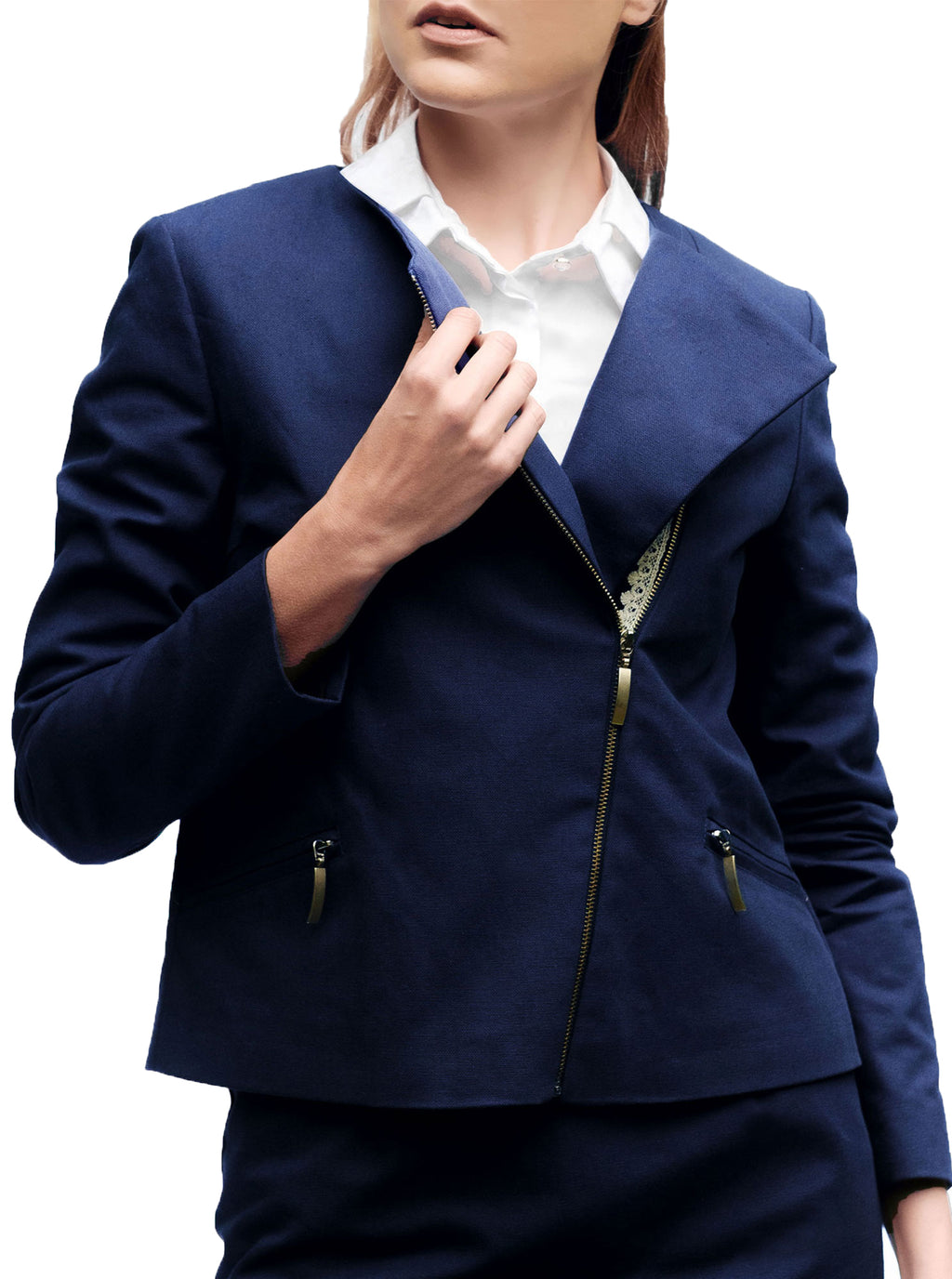 Blue Organic Cotton Jacket TATAR