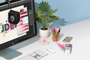 Pantone Color Control i1studio designer edition (eostudiode) workflow image monitor desk