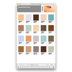 Pantone Color Manager Software (PS-CM100) product image Anahola Beach screen shot
