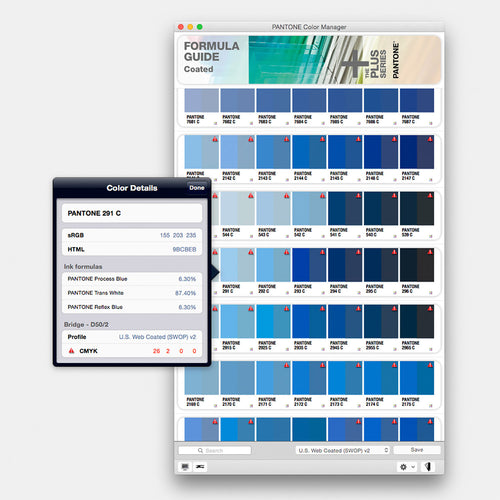 Pantone Colour Manager Software PSC-CM100 screen shot