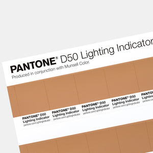 Pantone Lighting Indicator Stickers D50 sample page