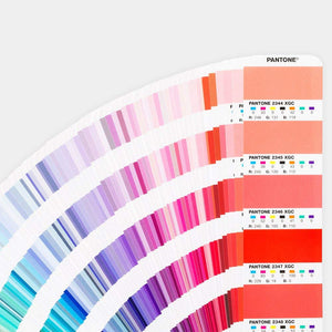 Pantone Plus Extended Gamut Guide GG7000 open fan book example page