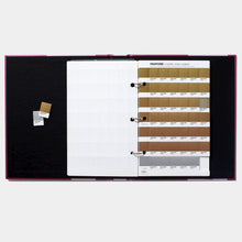 Load image into Gallery viewer, Pantone Plus Metallic Chips Coated GB1507 open binder product image