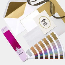 Load image into Gallery viewer, Pantone Plus Metallics Guide Coated GG1507 lifestyle image