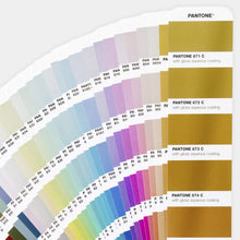 Load image into Gallery viewer, Pantone Plus Metallics Guide Set Coated GP1507 displayed fan product image