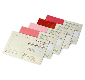 RAL Classic 841GL Primary Standards card examples
