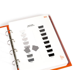 RAL Design Plus D3 Colour Toolbook (RALD3PLUS) black grey example page image