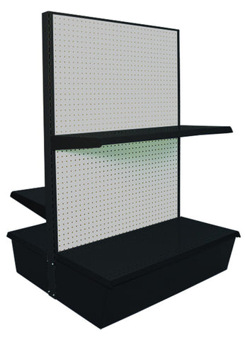 Heavy Duty Gondola Shelving - Double Sided 36""