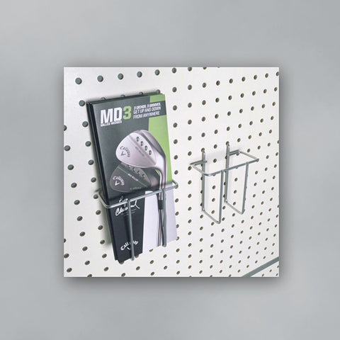 Wire Brochure Holders for Pegboard Retail Displays