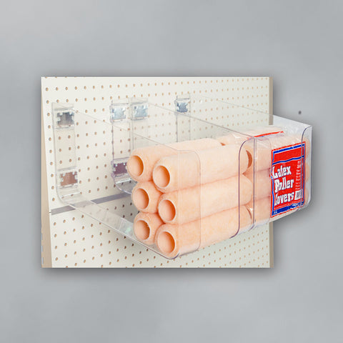 Plastic Holder for Pegboard Retail Merchandising Displays