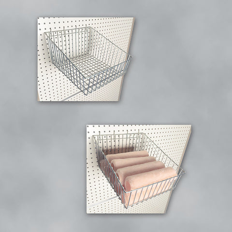 Wire Baskets for Gondola Style Retail Merchandising Displays