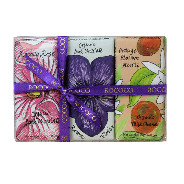 Set of 3 Organic Floral Mini Bee Bars