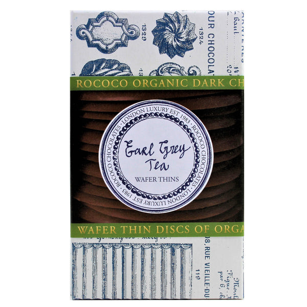 Earl Grey Tea Organic Dark Chocolate Wafer Thins