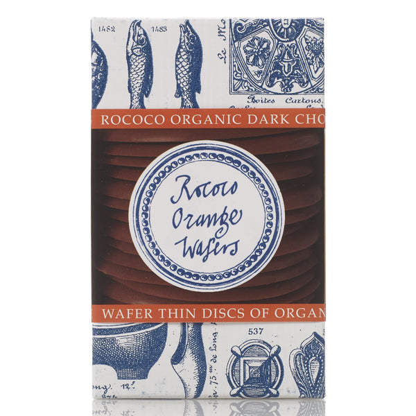 Orange Organic Dark Chocolate Wafer Thins