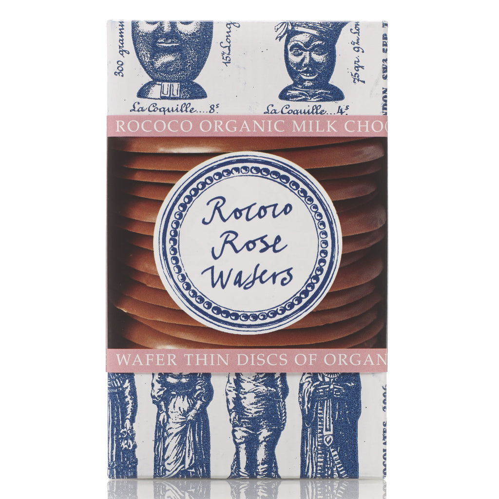 Rose Organic Milk Chocolate Wafer Thins