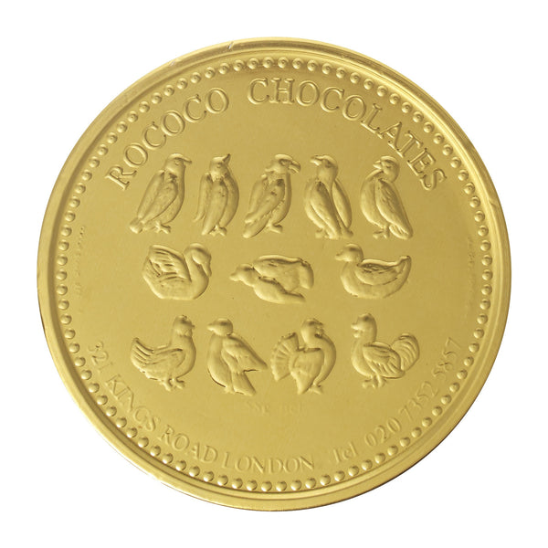 Large Rococo Gold Coin