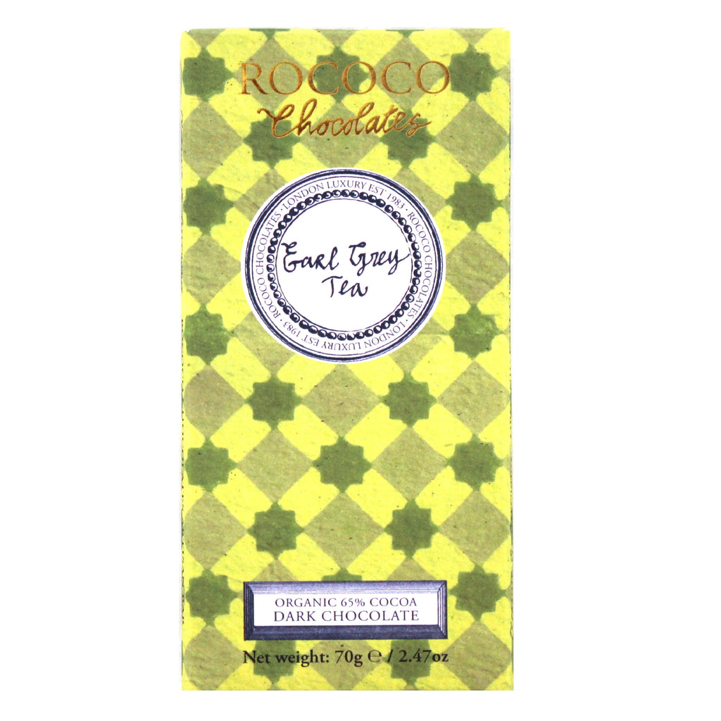 Earl Grey Tea Organic Dark Chocolate Artisan Bar