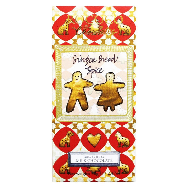 Gingerbread Spice Milk Chocolate Christmas Artisan Bar