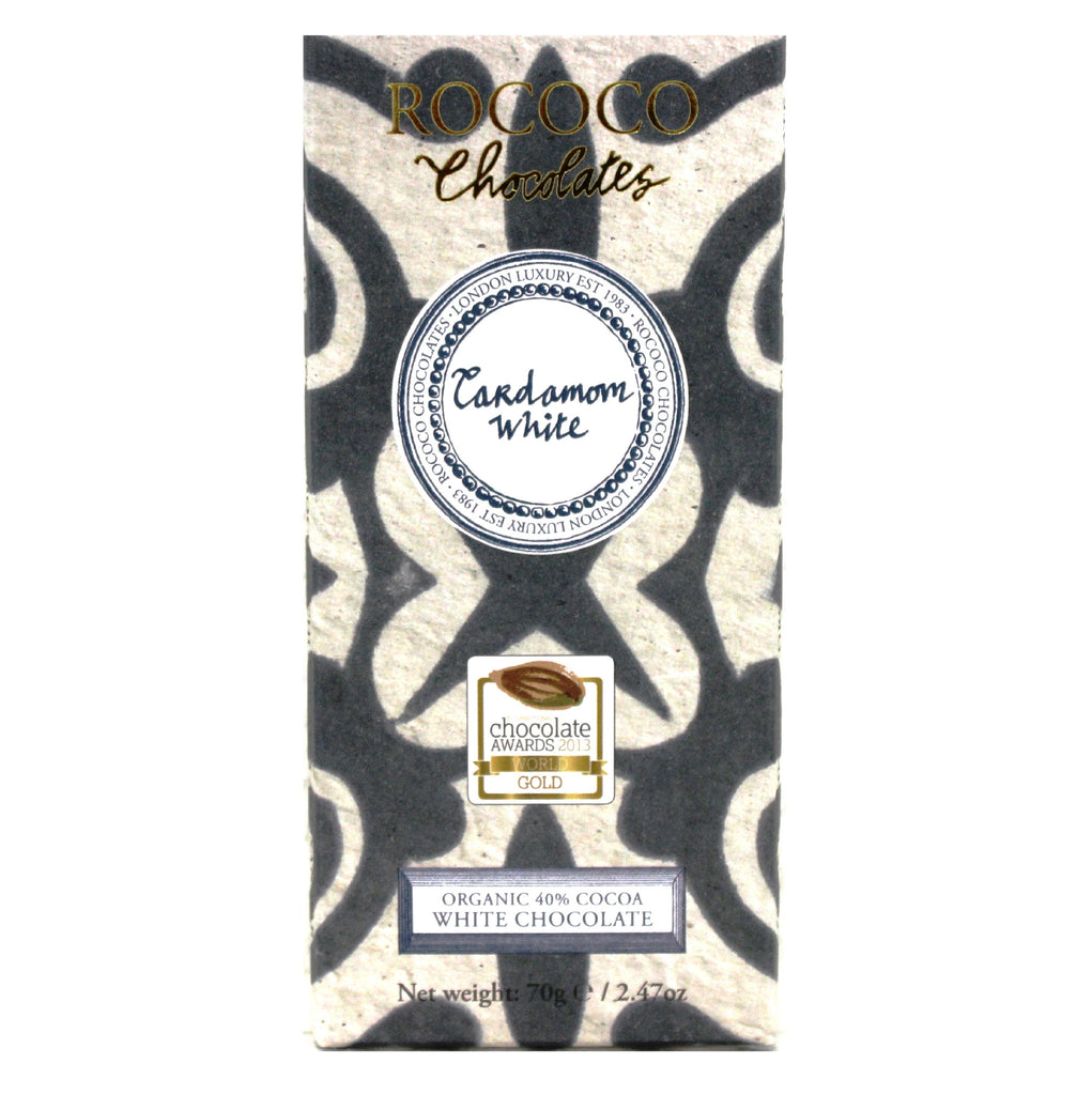 Cardamom Organic White Chocolate Artisan Bar