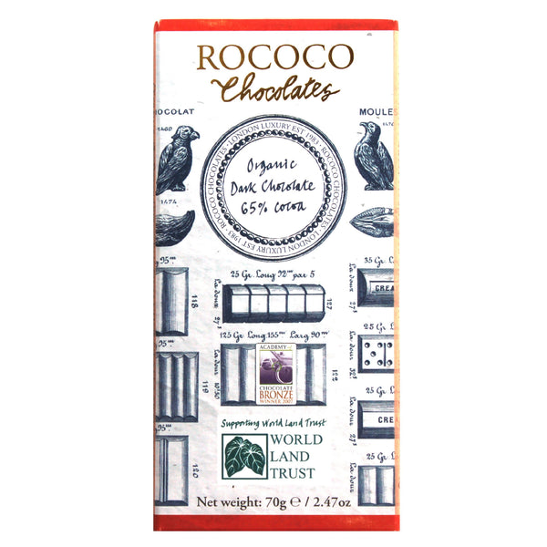 65% Cocoa Organic Dark Chocolate Artisan Bar
