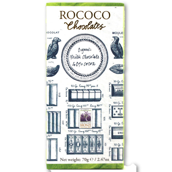40% Cocoa Organic Milk Chocolate Artisan Bar