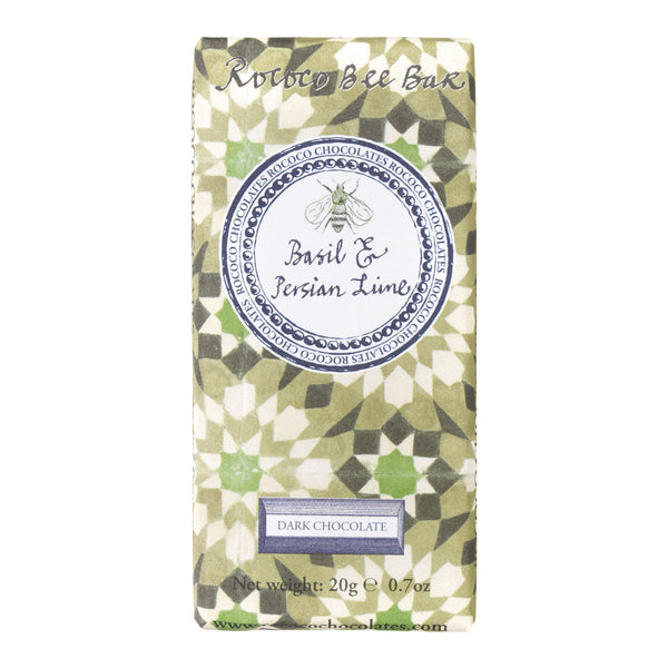 Basil and Persian Lime Organic Dark Chocolate Bee Bar