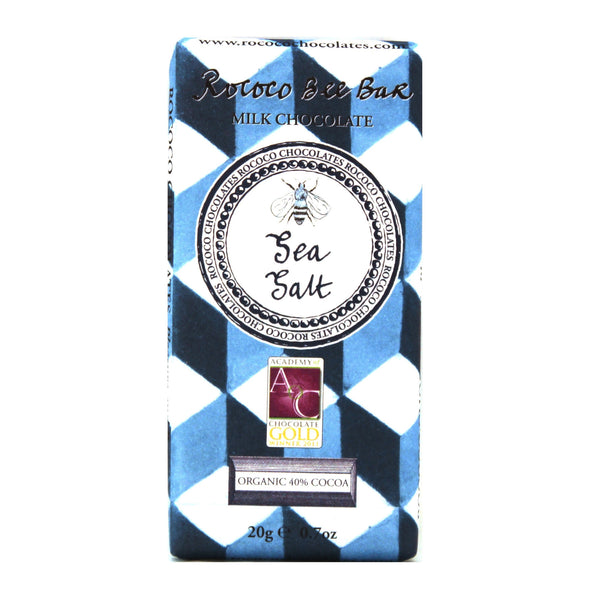 Sea Salt Organic Milk Chocolate Bee Bar