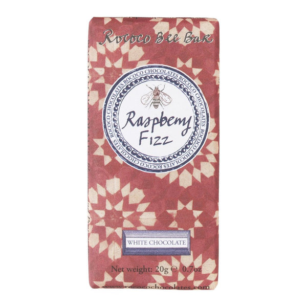 Raspberry Fizz White Chocolate Bee Bar