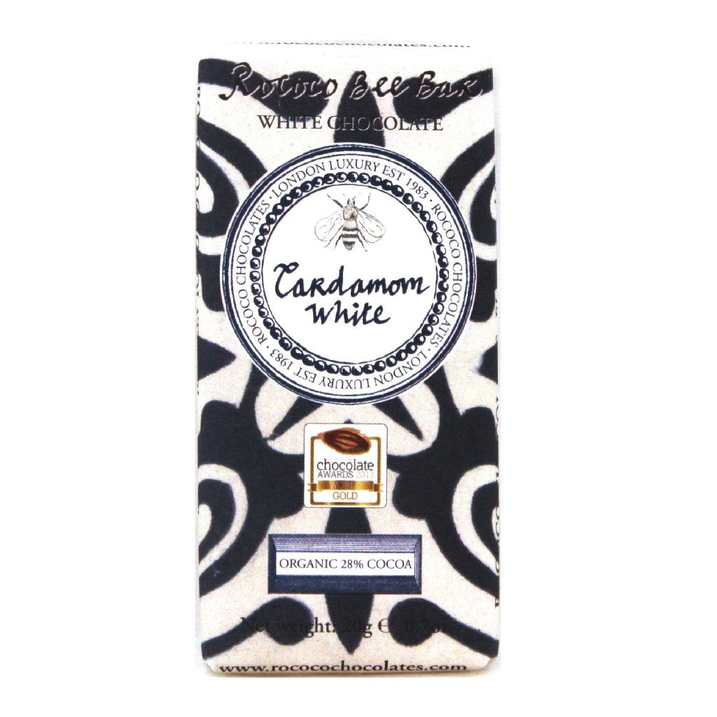 Cardamom Organic White Chocolate Bee Bar