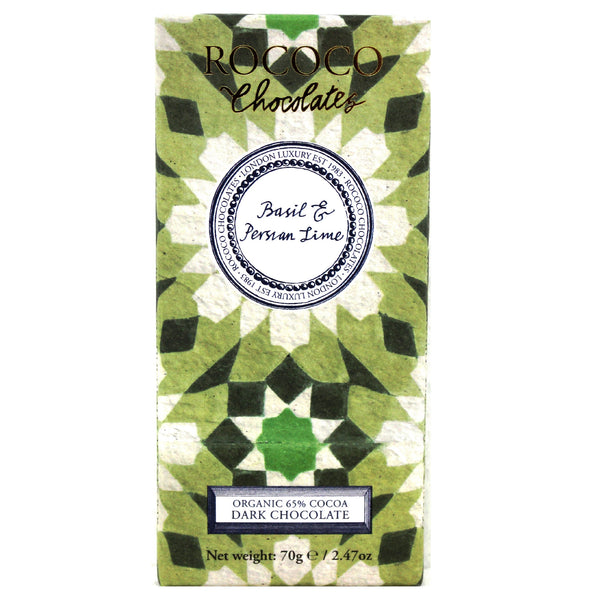 Basil & Persian Lime Organic Dark Chocolate Artisan Bar