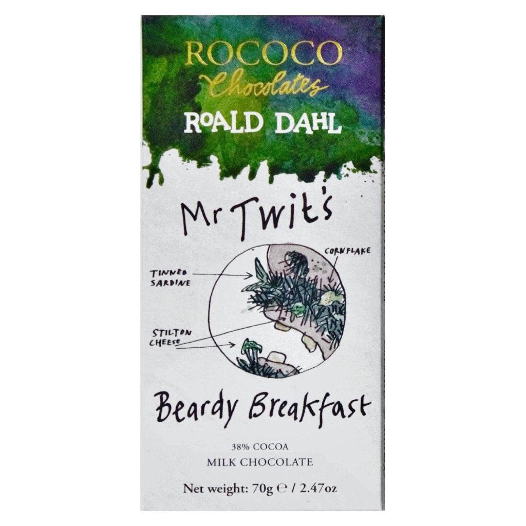 Rococo & Roald Dahl: Mr Twit's Beardy Breakfast Milk Chocolate Bar