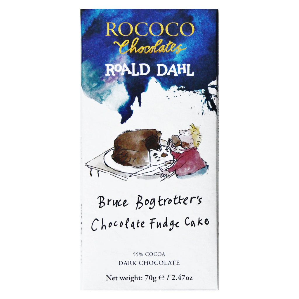 Rococo & Roald Dahl: Bruce Bogtrotter's Chocolate Fudge Cake Dark Chocolate Bar