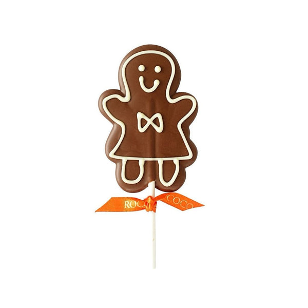 Gingerbread Woman Milk Chocolate Lolly
