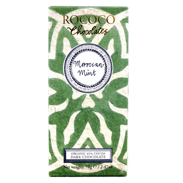 Moroccan Mint Organic Dark Chocolate Artisan Bar