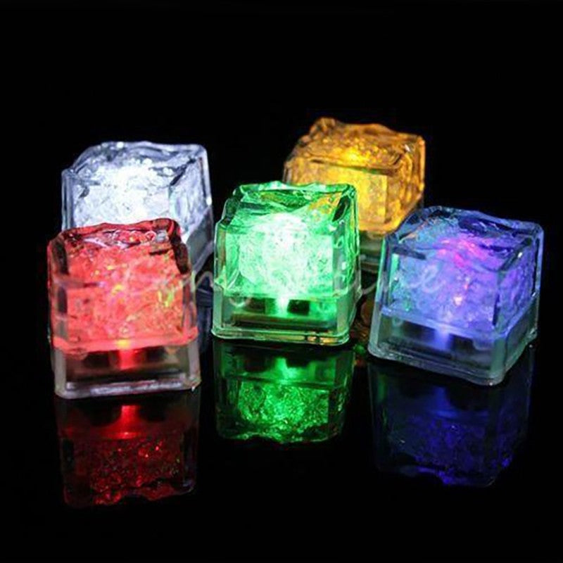 light up led ice cubes multi pack of 12 unique party