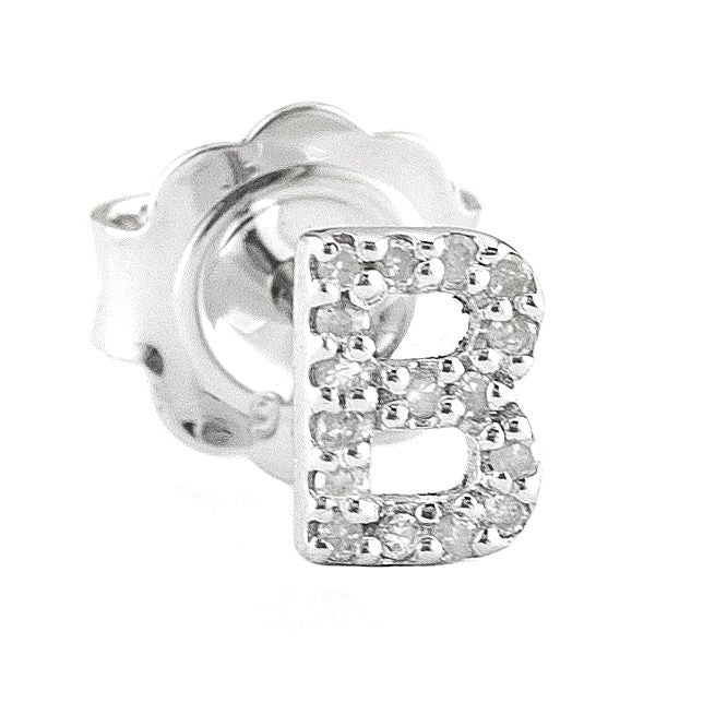 Personalized Jewelry: Diamond Initial Stud Earrings