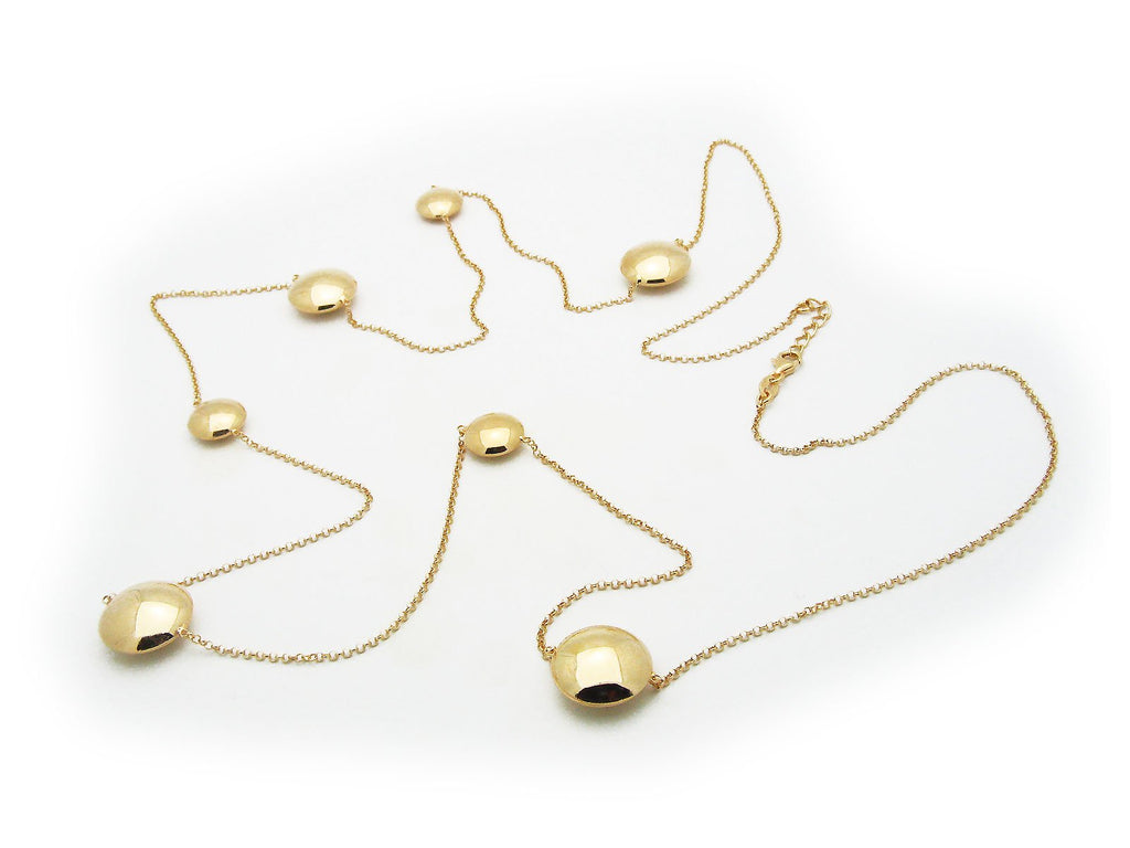 Golden Art Disc Station Necklace, Length: 42 Inches