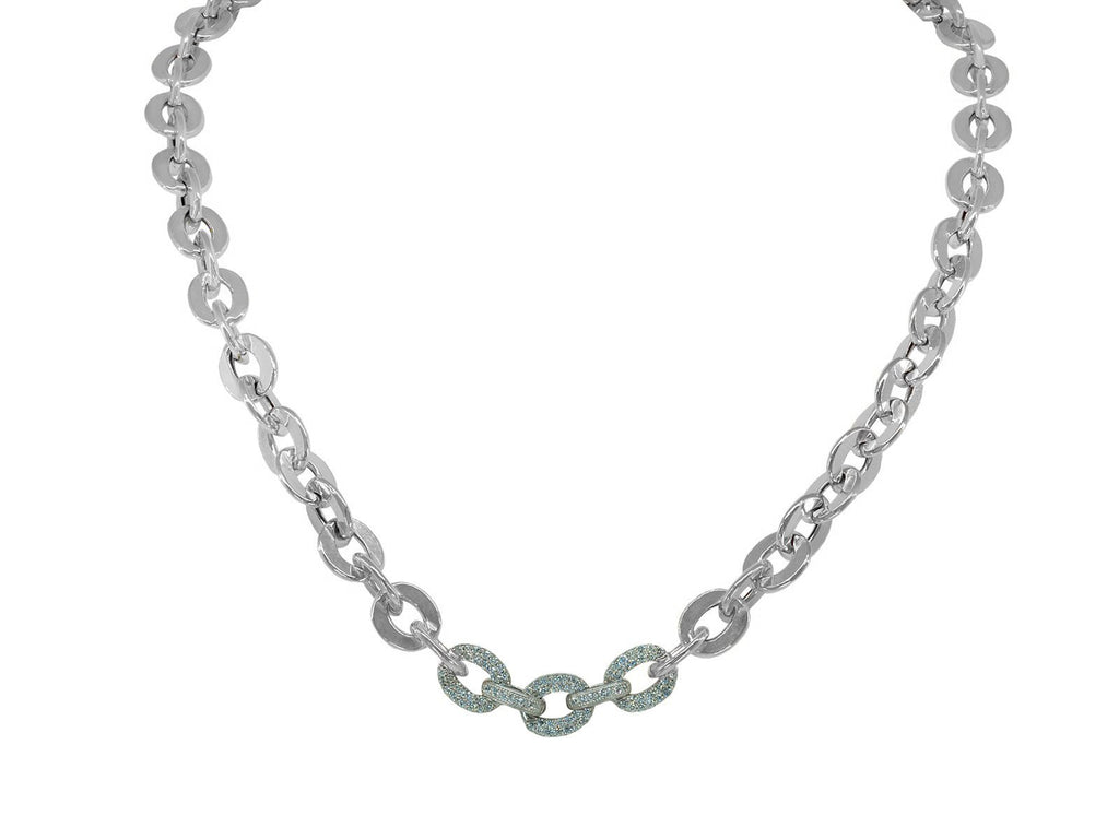 Fronay CZ Links Necklace